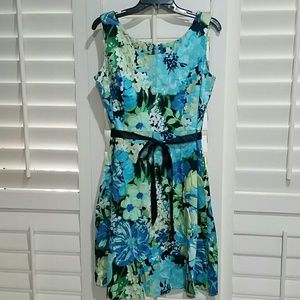 Floral Dress with Ribbon